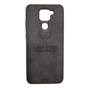 Black Cloth Redmi Note 9 Cover